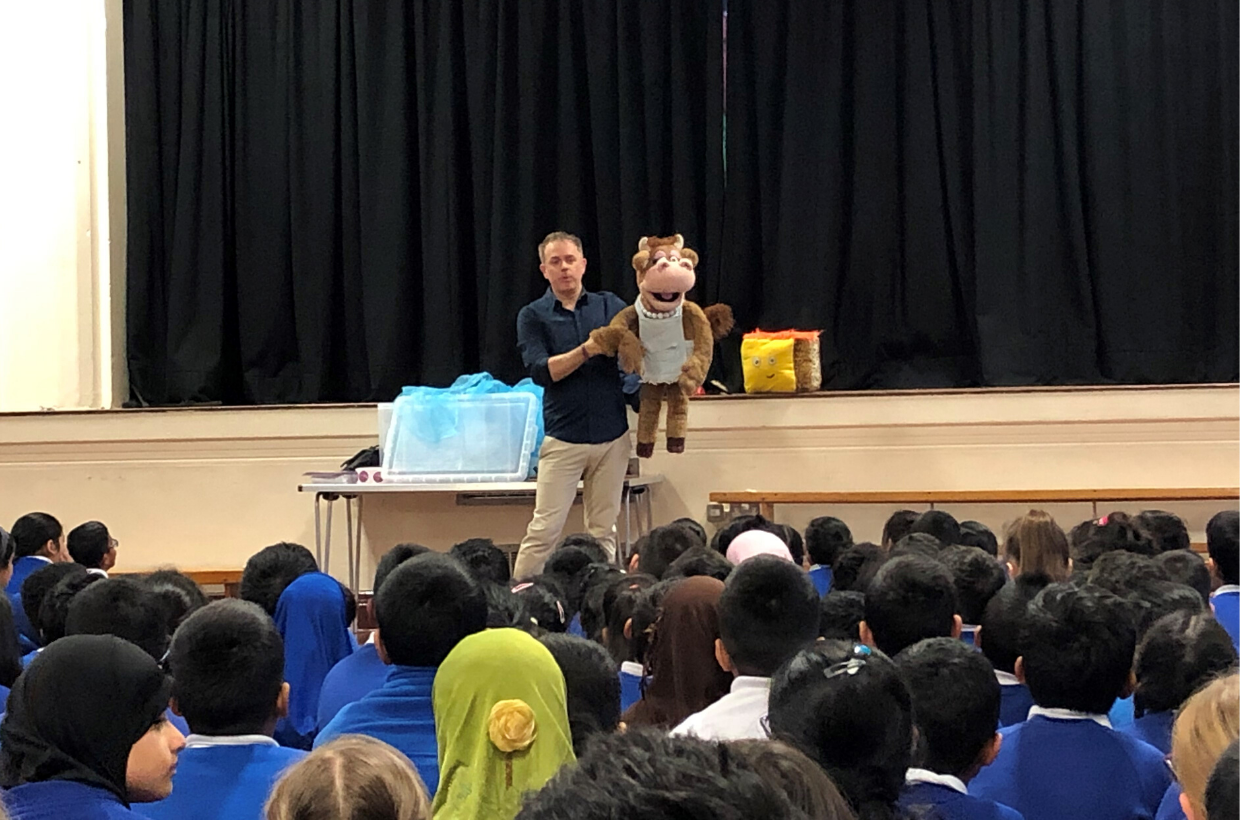 Children's TV Star Chris Jarvis Hosts Guest Assembly at Drove Primary School